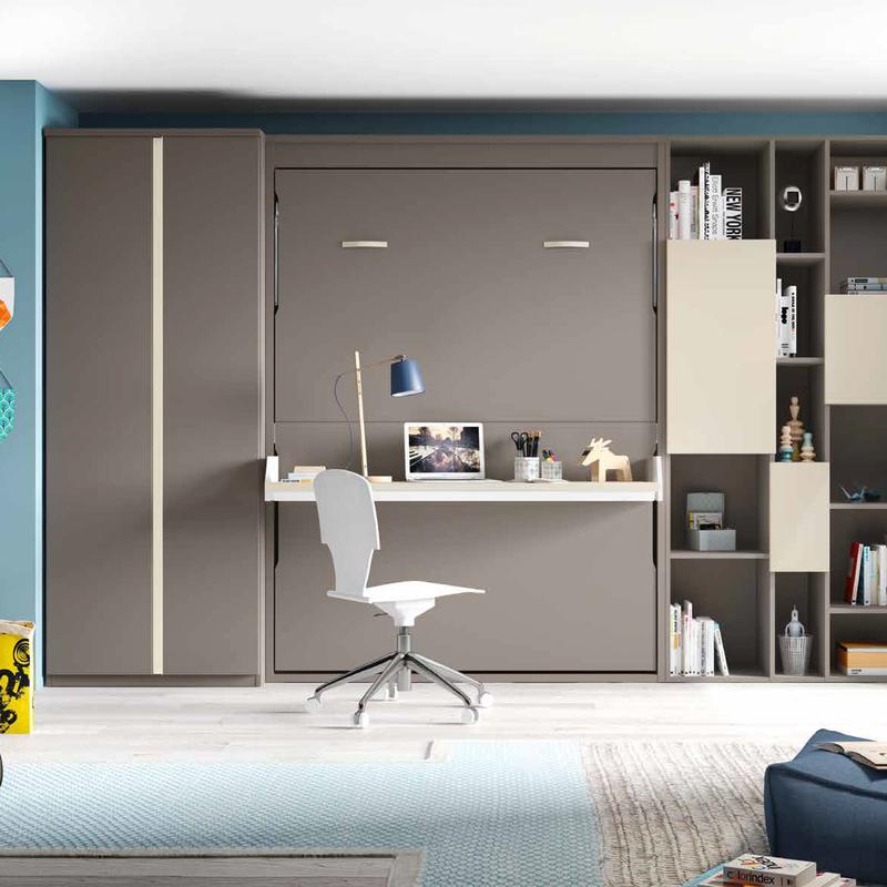 Lit Bureau Escamotable 140 160 Vertical Personnalisable